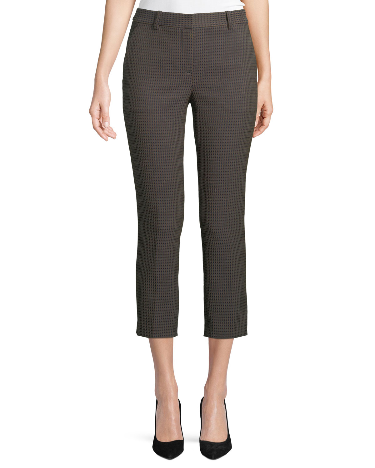 Trexxa 2 Dotted-Jacquard Straight-Leg Cropped Pants