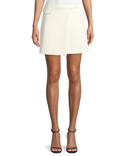 d88b22280 Quick Look. Theory · Draped A-Line Mini Skirt. Available in White