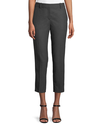 Trecca 2 Straight-Leg New Pure Flannel Cropped Pants