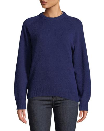 Crewneck Cashmere Pullover Sweatshirt