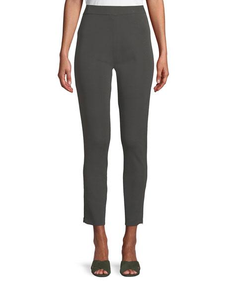 Misook Petite Knit Ankle-Zip Legging Pants