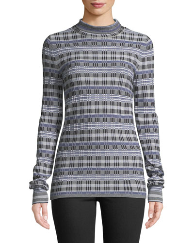 Turtleneck Long-Sleeve Prosecco Knit Top