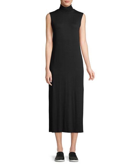 Vince Sleeveless Turtleneck Midi Dress