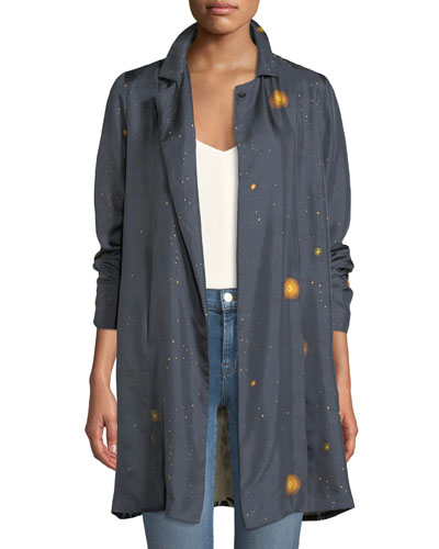Womens Silk Jacket   Neiman Marcus   Womens Silk Coat, Ladies Silk ... bf7434808b22