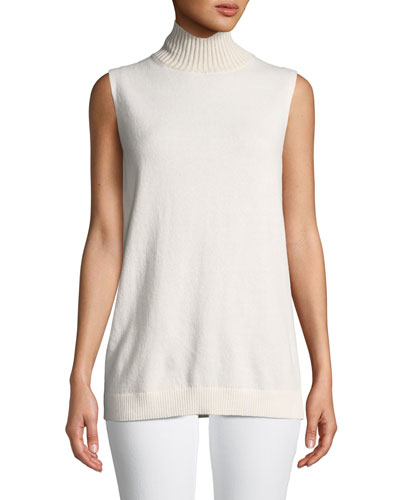 5f602d50271f9a Quick Look. Lafayette 148 New York · Turtleneck Sleeveless Cashmere Sweater
