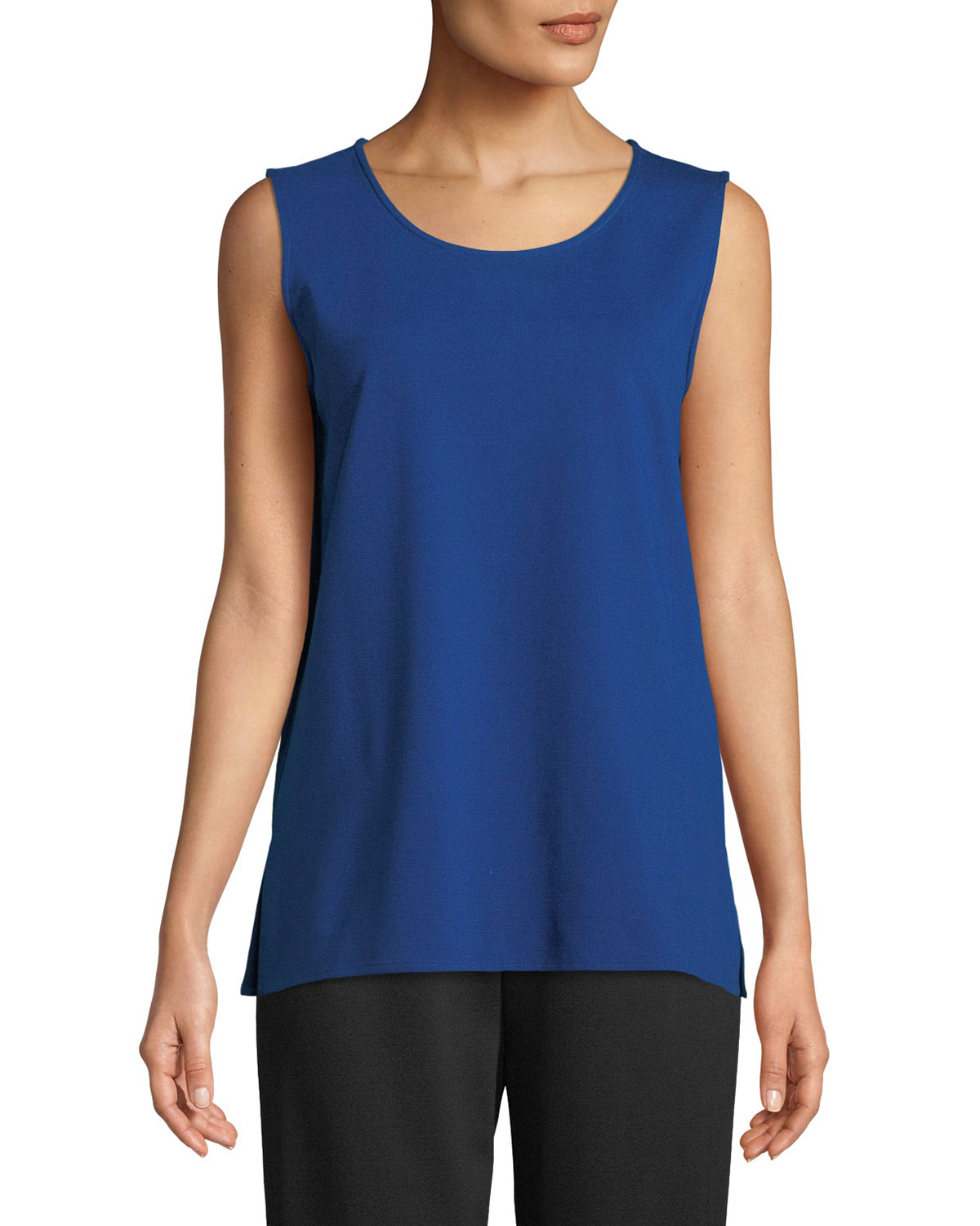 Ponte Knit Longer Tank, Plus Size