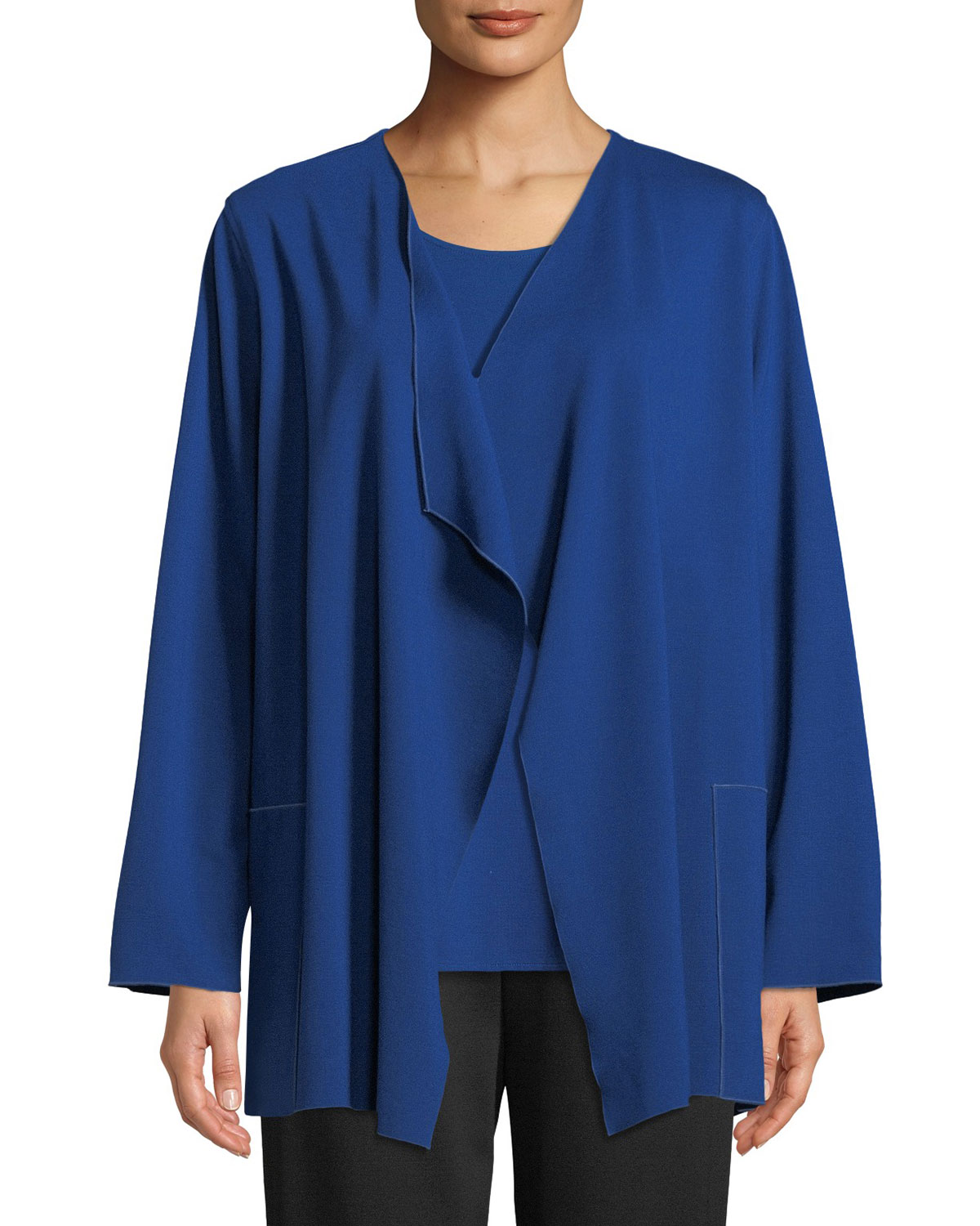 Ponte Luxe Saturday Jacket w/ Pockets, Plus Size