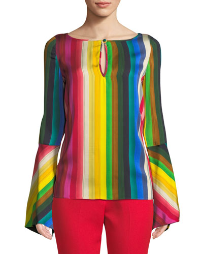 Tina Rainbow Georgette Top