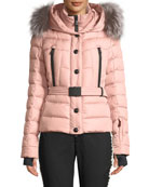 Moncler Grenoble Beverly Fitted Puffer Coat w/ Removable