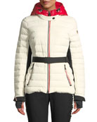 Moncler Grenoble Bruche Channel-Quilted Puffer Coat
