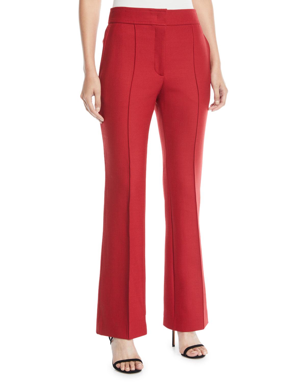 Ridge Wool-Blend Pants w/ Double Seams