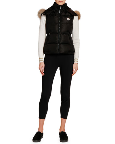 Gallinule Puffer Vest w/ Detachable Fur-Trim Hood