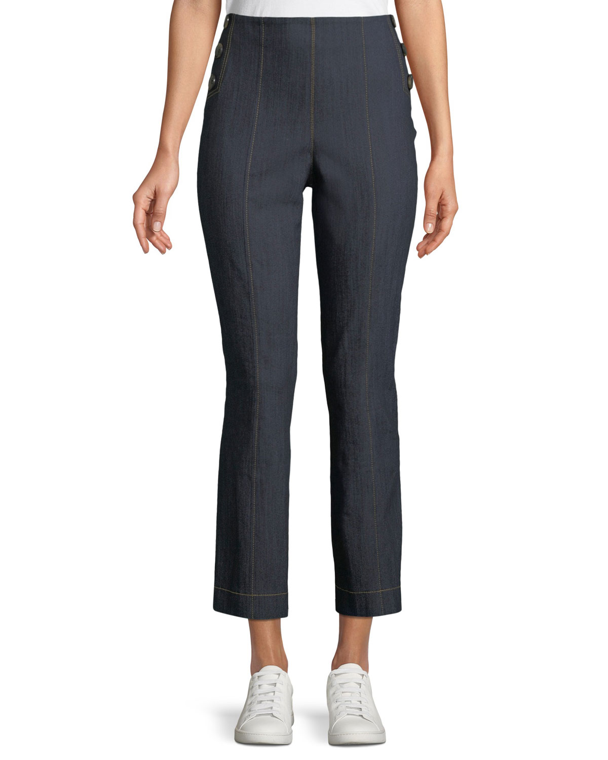 Chantal Straight-Leg Denim Pants