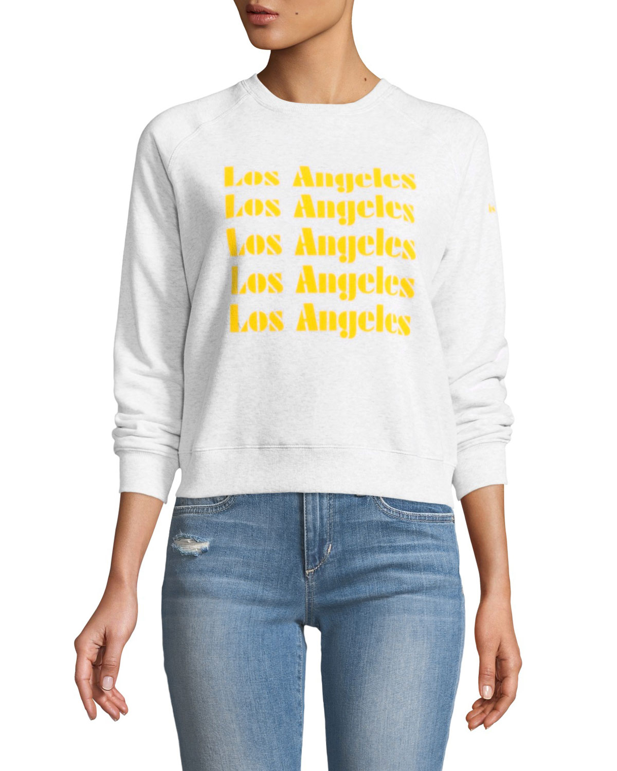 Los Angeles Cropped Graphic Sweatshirt