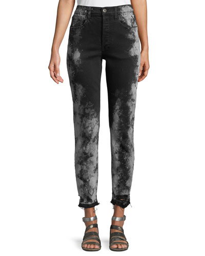 W3 Higher Ground Cropped Jeans w/ Distressed Hem
