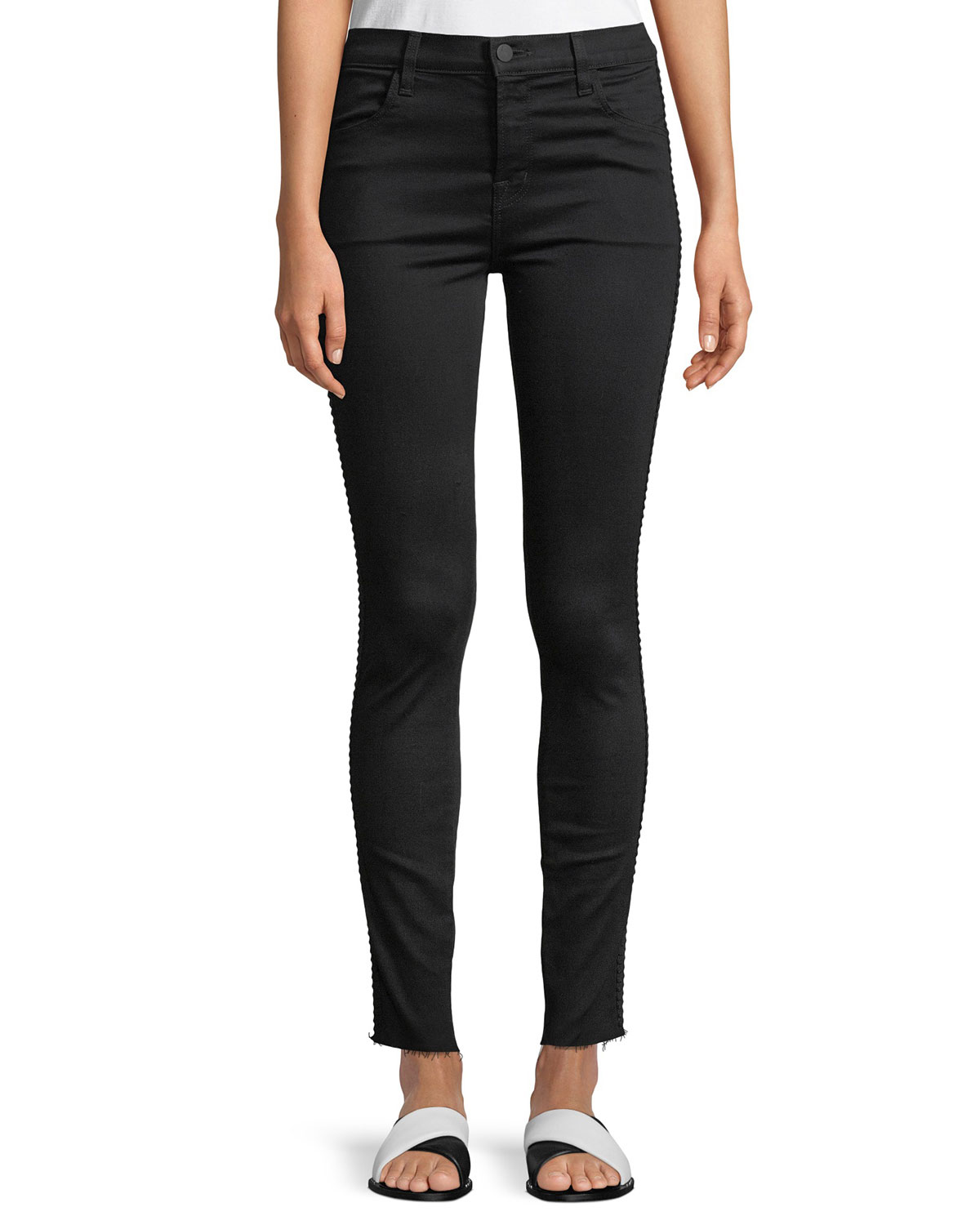 Maria High-Rise Super Skinny Jeans with Braid Side
