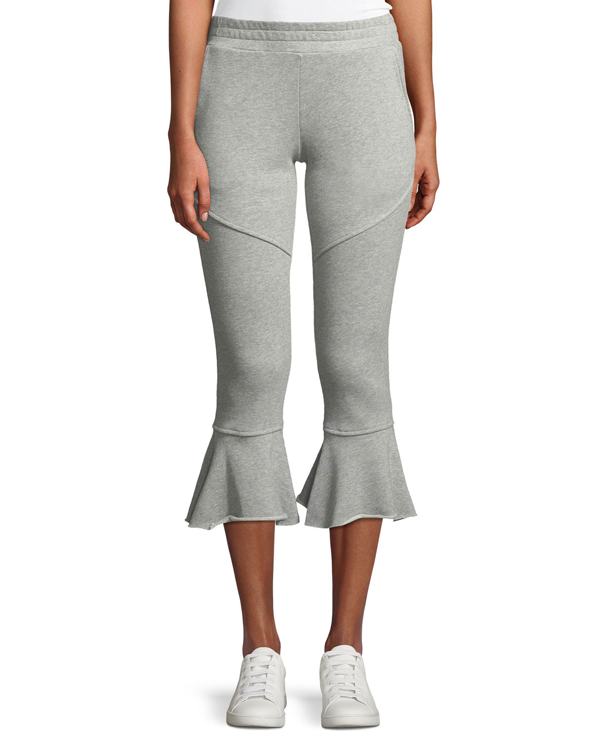 Veronica Cropped Flare-Leg Sweatpants