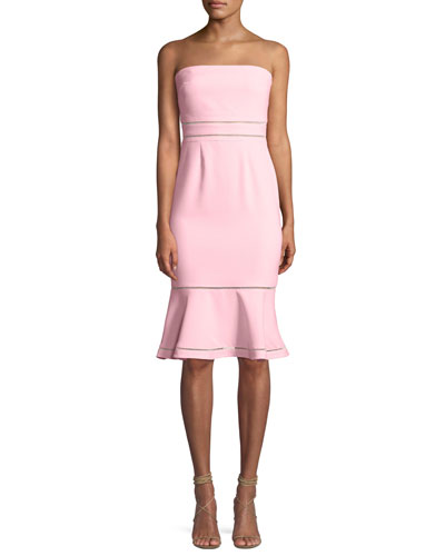 c2924b6163ab1 Quick Look. Likely · Abbott Strapless Flounce Cocktail Dress