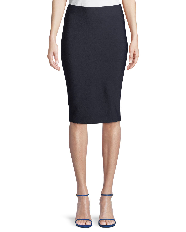 Poly-Sci Pull-On Midi Skirt