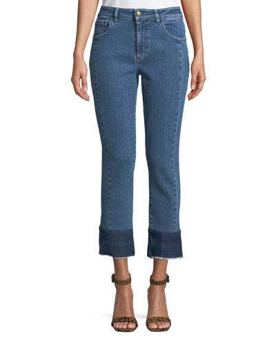 Tiana Cropped Raw-Hem Jeans