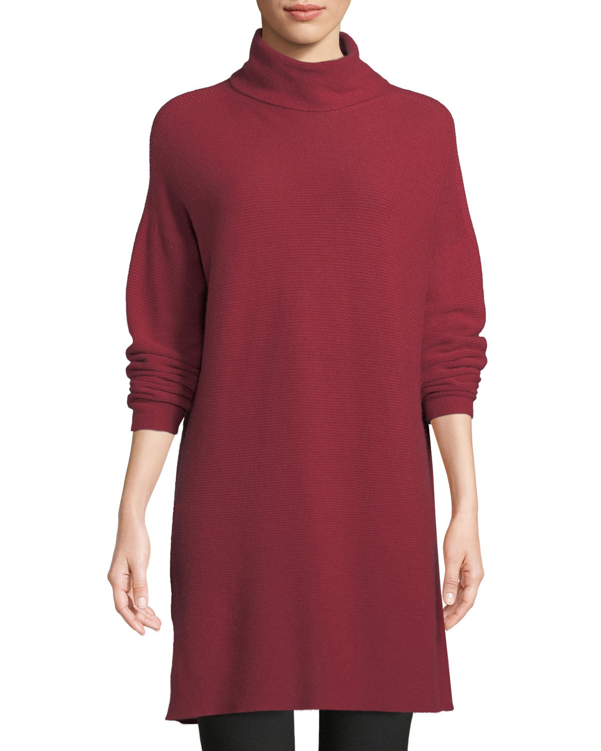 CASHMERE FUNNEL-NECK TUNIC