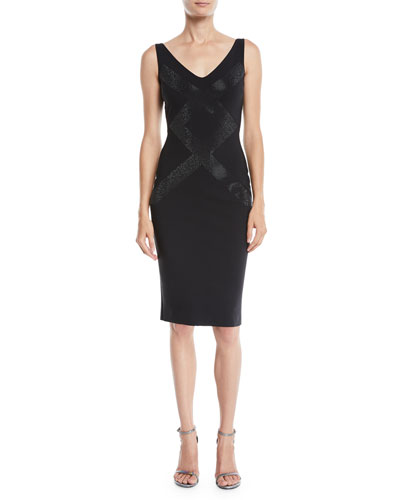 Dallas Sleeveless V-Neck Cocktail Dress