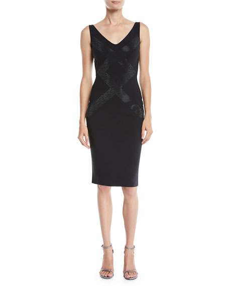 Chiara Boni La Petite Robe Dallas Sleeveless V-Neck Cocktail Dress