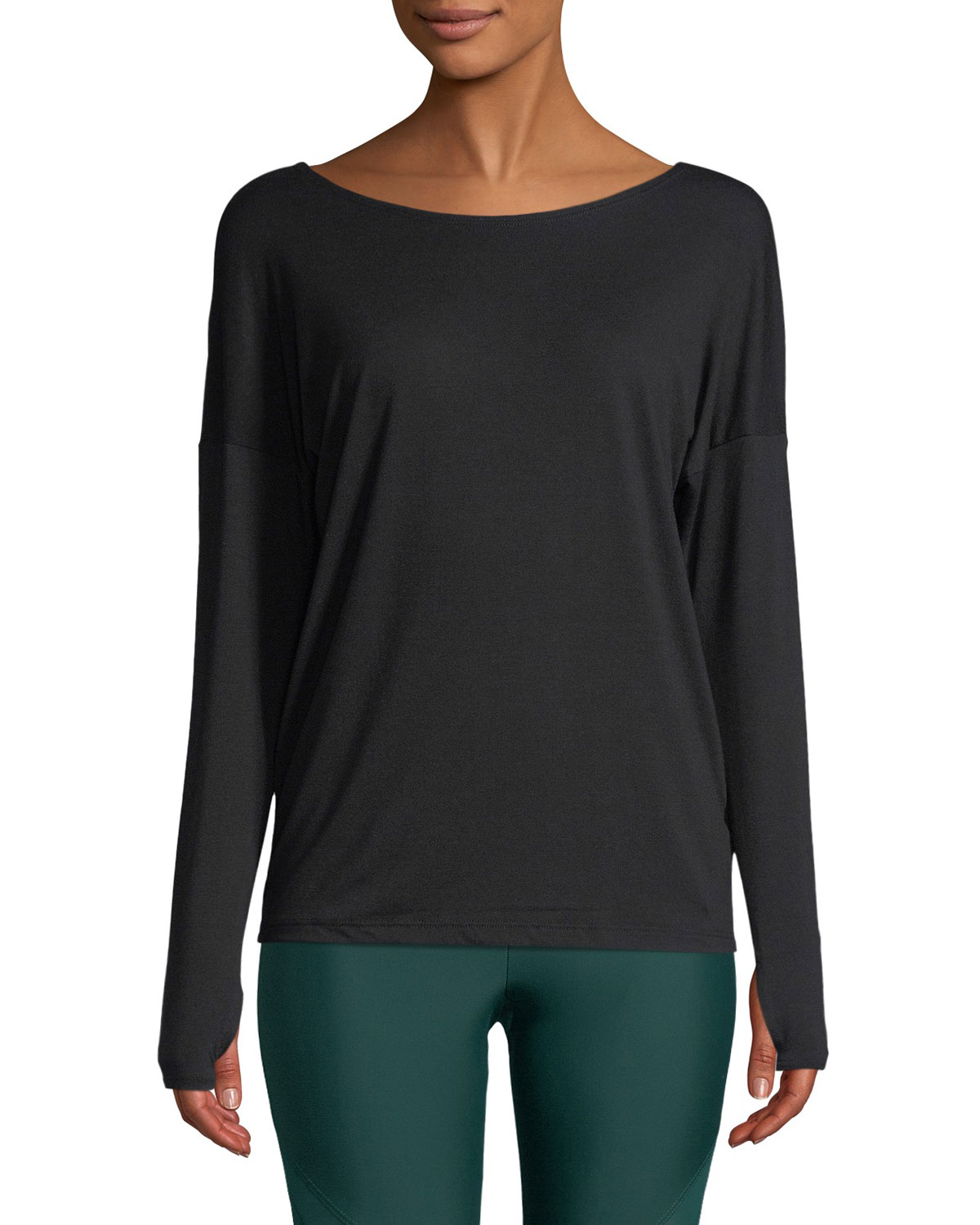 Diamond Back Long-Sleeve Active Top