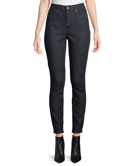 Eileen Fisher High-Waist Organic Cotton Skinny Jeans