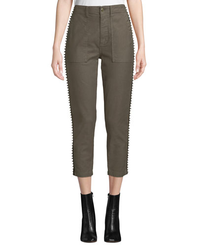 Kirtana Studded Cropped Utility Pants