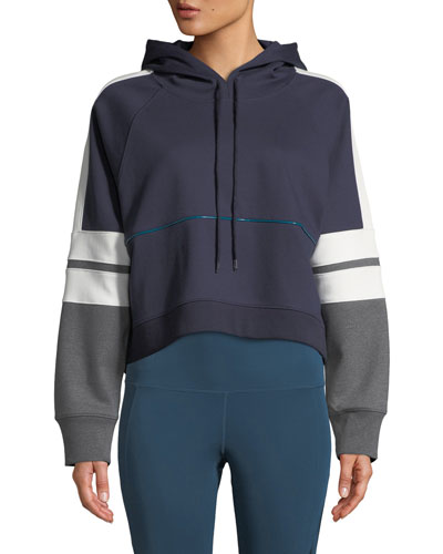 Carson Boxy Colorblock Cropped Hoodie