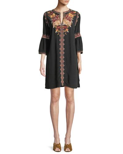 Sleeves Tunic Dress Neiman Marcus