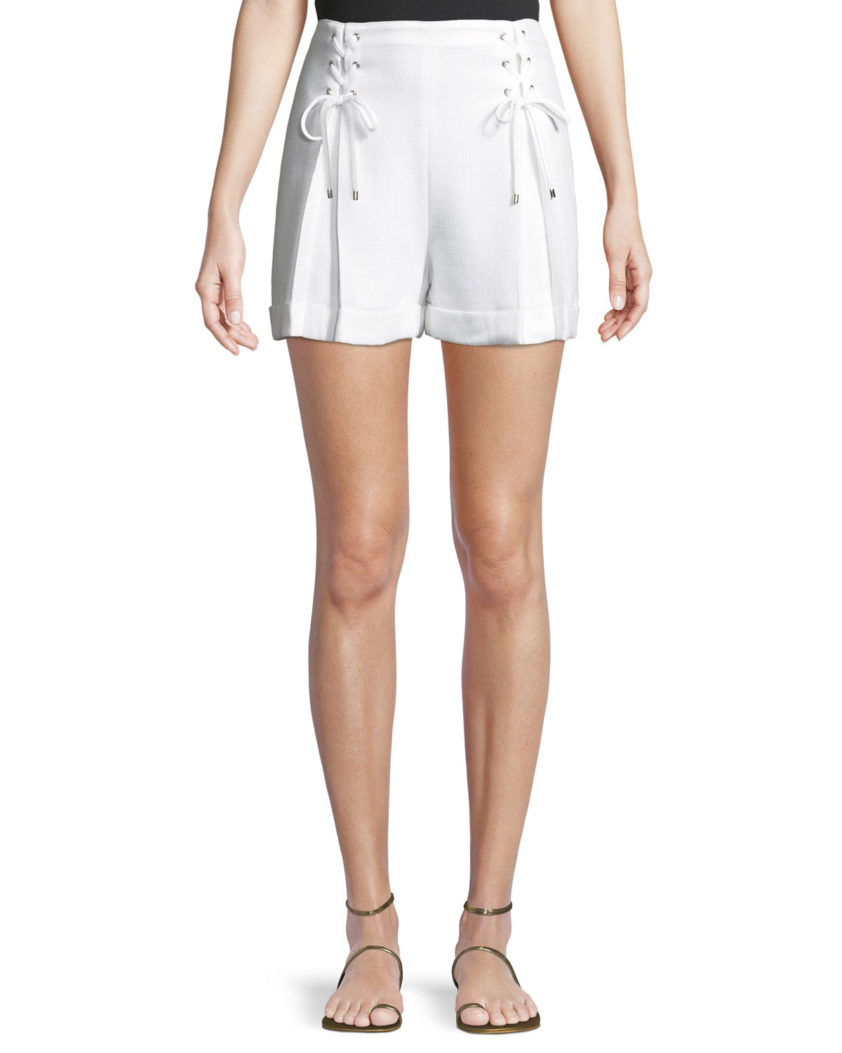 Ditmas Lace-Up Cuffed Shorts
