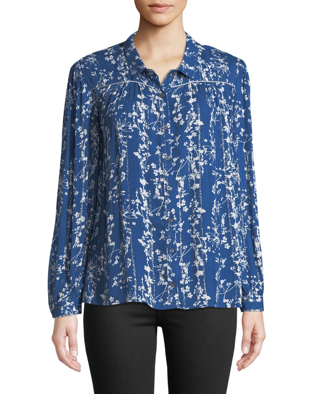 Fiona Floral-Print Button-Front Shirt