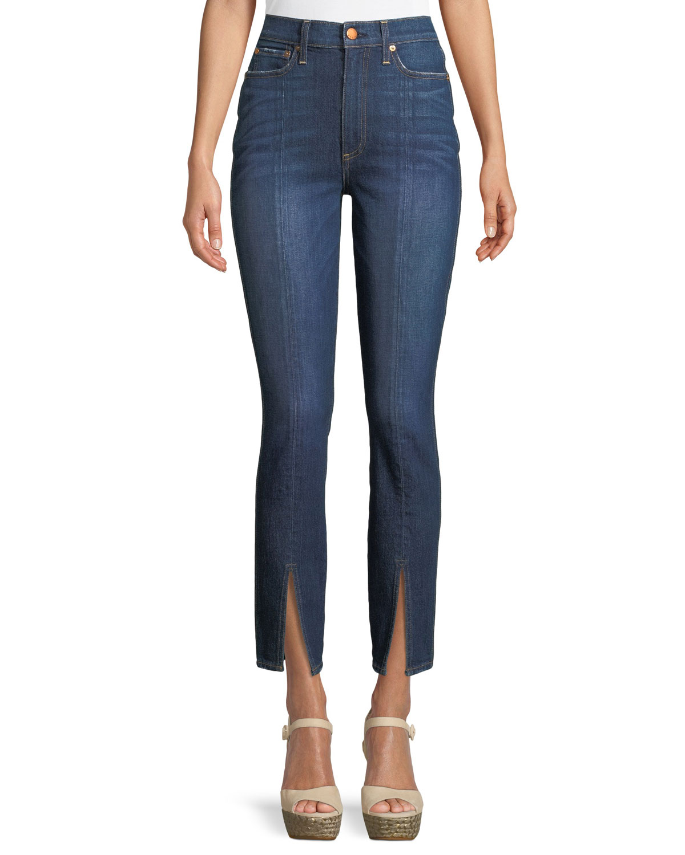 Good High-Rise Front-Split Skinny Jeans