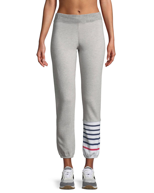 Striped Colorblock Jogger Sweatpants
