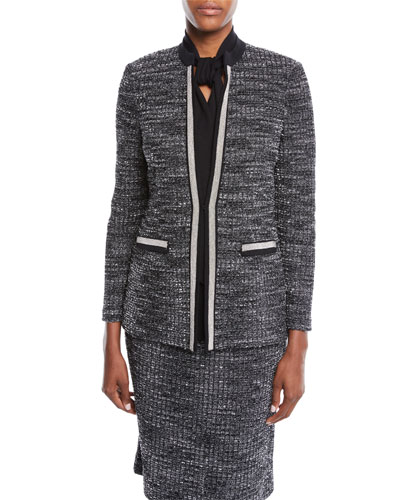 Tweed Knit Jacket, Petite