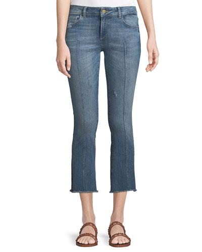 Instaslim Cropped Flare-Leg Jeans