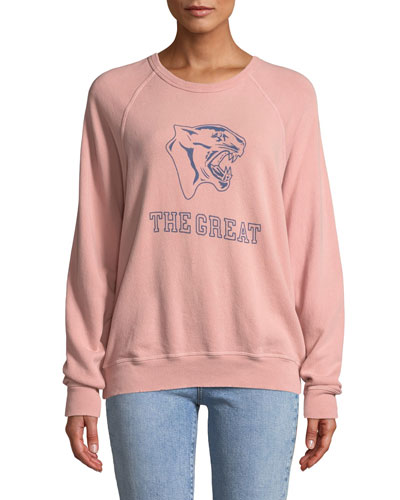 The College Sweatshirt w/ Varsity Graphic