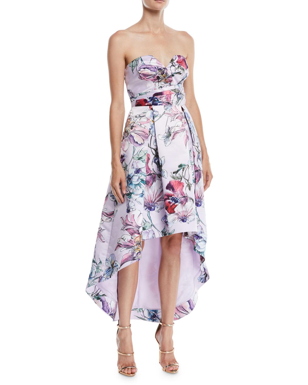 Clemson High-Low Dress w/ Floral Print