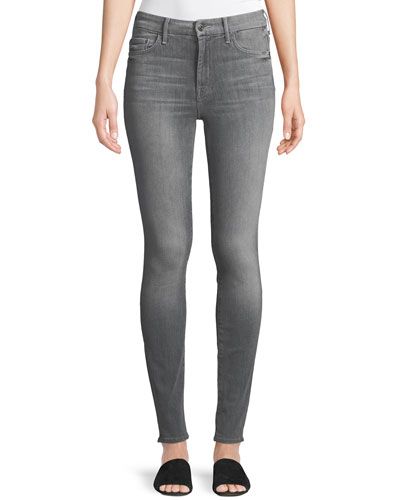 Looker High-Waist Faded Skinny Jeans