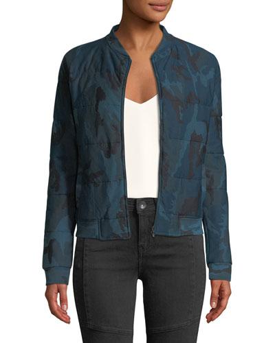 1d9afe8d5cc8 Quick Look. Majestic Paris for Neiman Marcus · Quilted Camo-Print Zip-Front Bomber  Jacket