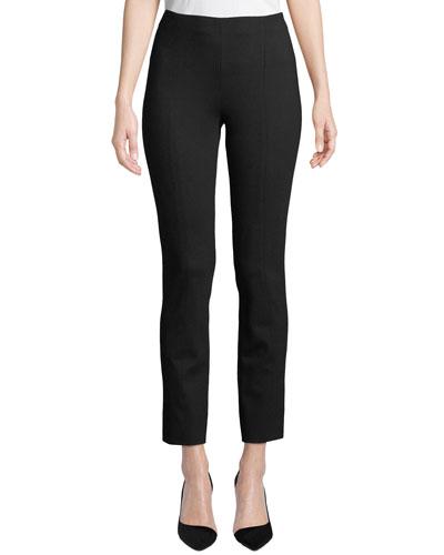 Plus Size Ponte Slim-Leg Pants