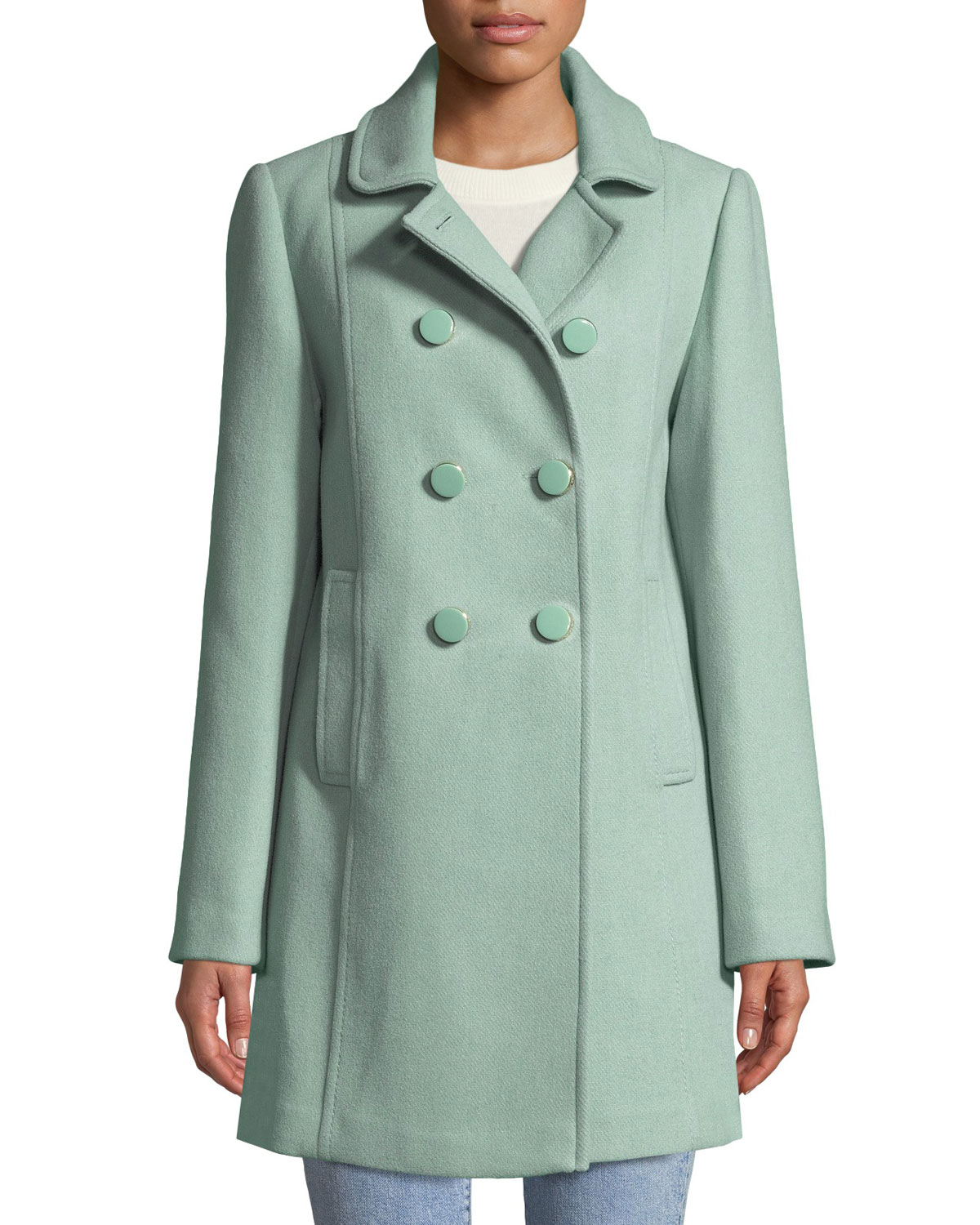 wool twill double-breasted coat