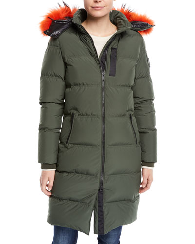 Donnacona Long Parka Coat w/ Fur Trim & Hood