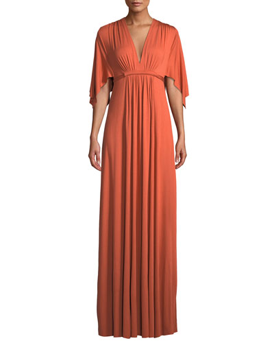 0c5510b9cefeb Quick Look. Rachel Pally · Plus Size V-Neck Kimono-Sleeve Empire-Waist  A-Line Long Caftan Dress