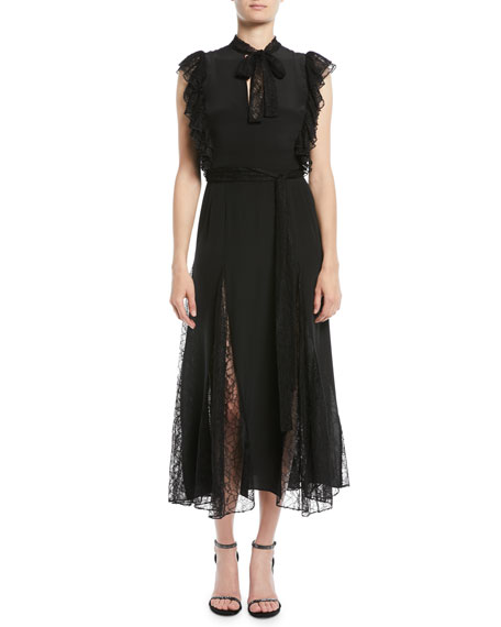 Alexis Sterling Sleeveless Lace Godet Midi Dress
