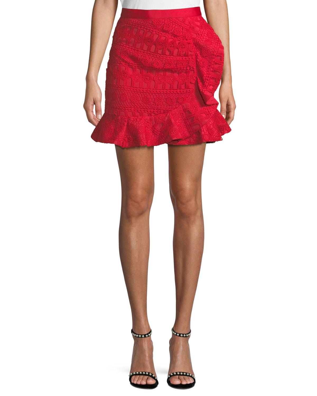 Lace Frill Mini Skirt