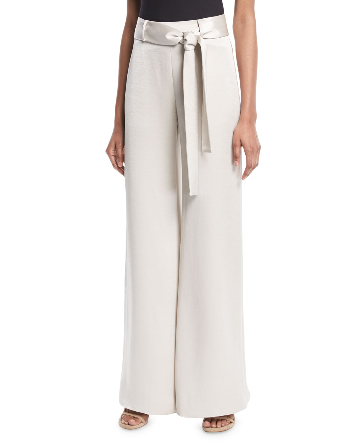 Nerissa Belted Wide-Leg Pants