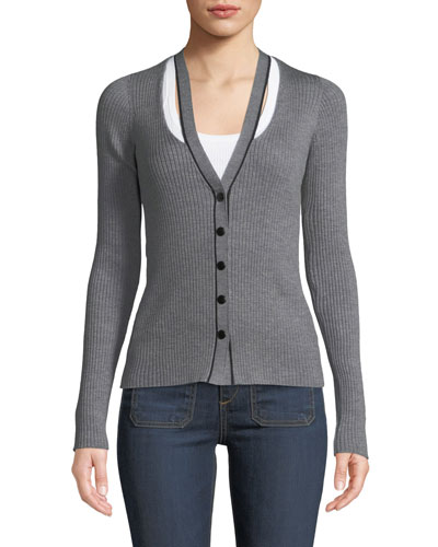 a00241a09a Fitted Cardigan Sweater